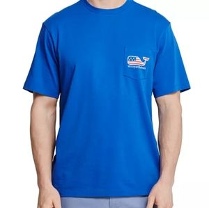 Mens small Vineyard Vines blue short sleeve shirt